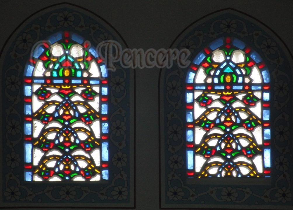 Cami Alçı pencere   vitray süsleme